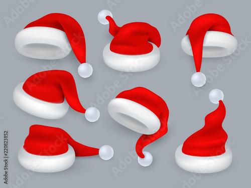 ff79c04403a44 Santa hats. Christmas 3d santa claus hat