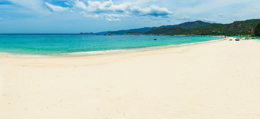 Wall Mural - White sand beach. Vietnam. Panorama