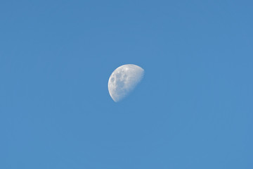 The moon in its waning cycle