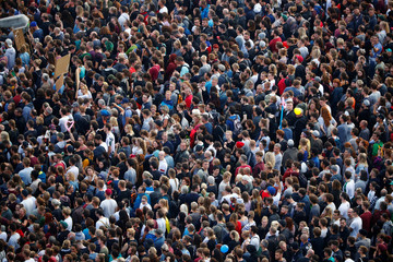 """People attend an open air """"anti-racism concert"""" in Chemnitz"""