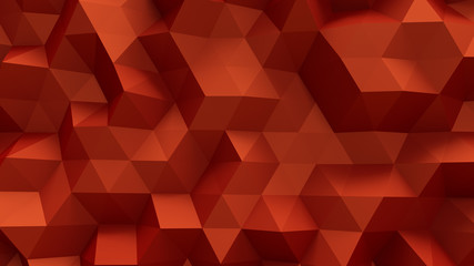Luxurious elegant red background with triangles and crystals. 3d illustration, 3d rendering.