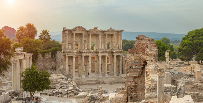 Library of Celsus in Ephesus Ancient City in Turkey.