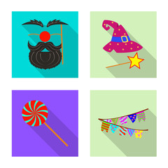 Vector illustration of party and birthday symbol. Set of party and celebration stock vector illustration.
