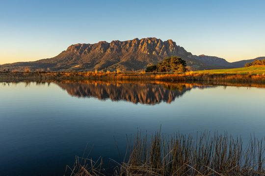 Mt Roland at sunrise, Tasmania, Australia