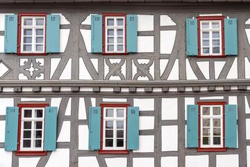 Fachwerkhaus in der historischen Altstadt von Oberursel am Taunus
