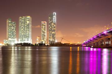 Real Estate developments at downtown Miami, Florida, USA