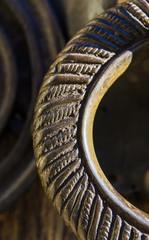 Detalle de un picaporte antiguo