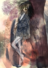 Comics beauty - An hand painted illustration