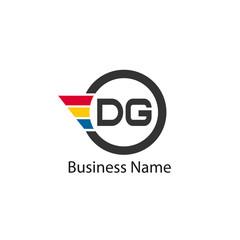 Initial Letter DG Logo Template Design