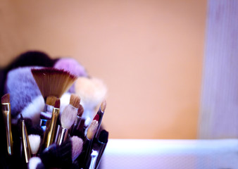 Set of brushes in different sizes for makeup