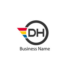 Initial Letter DH Logo Template Design