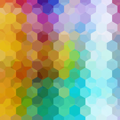 Background of green, blue, yellow, pink, orange, purple geometric shapes. Colorful mosaic pattern. Vector EPS 10. Vector illustration