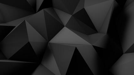 Stylish black crystal background..3d illustration, 3d rendering.