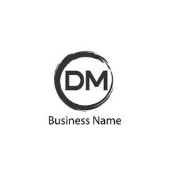 Initial Letter DM Logo Template Design