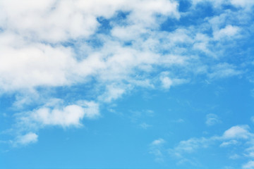 Beautiful clouds on a blue sky background.