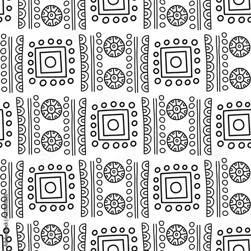African and mexican aztec american tribal vector borders frame Inspiration African Tribal Patterns
