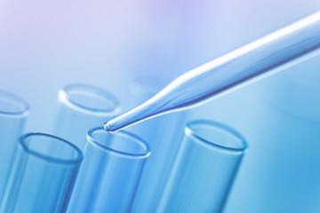 Medical science laboratory glassware