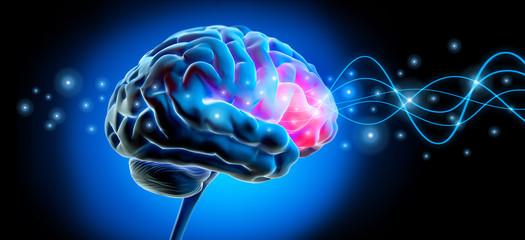 Gehirn mit Impuls - Stimulation