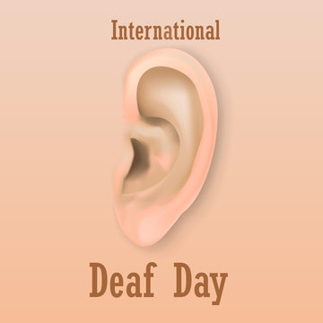 International deaf day concept background. Realistic illustration of international deaf day vector concept background for web design