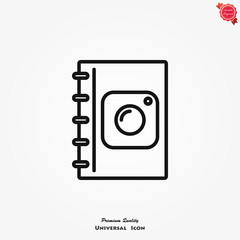 Album icon vector
