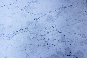 White blue marble with black lines, abstract texture background
