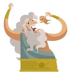 kronos greek mythology titan eating babies
