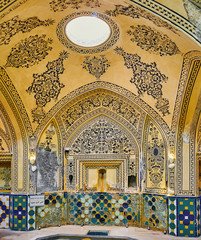 The dome of Hot Bath Hall of Qasemi Hammam, Kashan, Iran