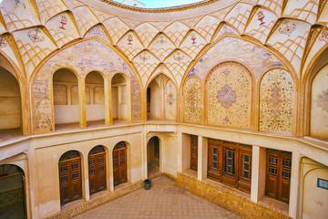 Interior of Tabatabaei House hall, Kashan, Iran