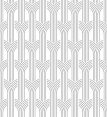Obraz Vector seamless texture. Modern geometric background. Lattices with semicircles. - fototapety do salonu