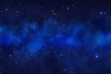 Fantastic abstract space and stars