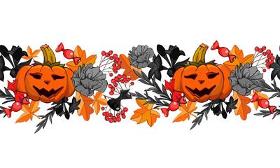 Halloween autumn pumpkin pattern