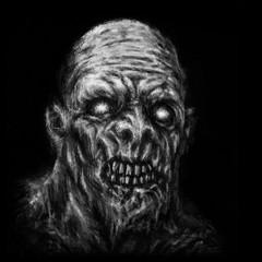 Scary demon face illustration
