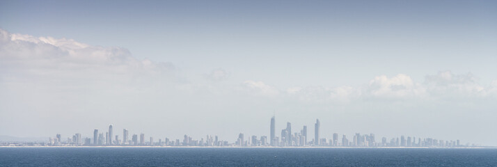 Surfers Paradise City from Distance