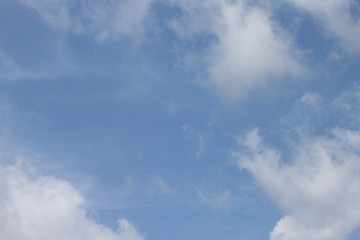 Blue sky and white cloud is beautiful in the morning after raining.