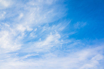 Cloudy sky background photo, cirrus clouds
