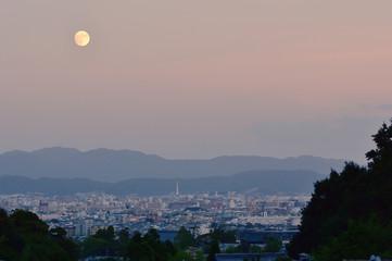 月夜の京都市内