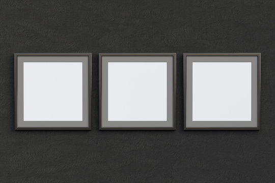 Square frames with blank poster