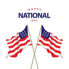 Happy USA National Day Vector Template Design Illustration