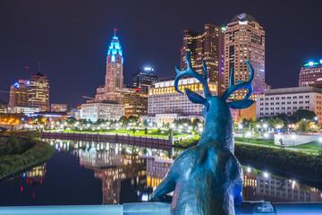 columbus,ohio,usa. 9-11-17: beautiful columbus skyline at night