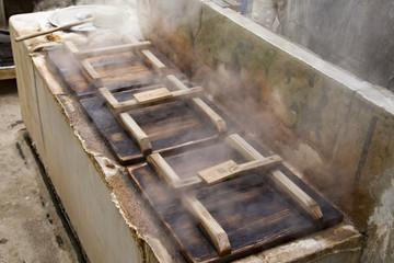 Kannawa Hot Springs,steamed cooking pot