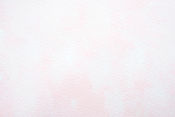 Watercolor background, art abstract pink watercolor painting textured design on white paper background