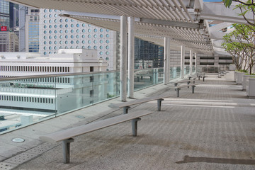 Roof garden at the IFC Mall in Hong Kong,