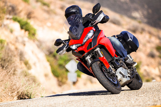 Motorcycle Rider In The Turns