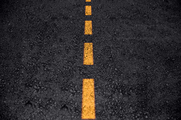 asphalt road texture with yellow line clean new freeway or highway  background
