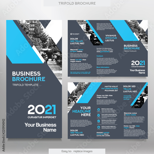 Trifold Brochure Template | Business Brochure Template In Tri Fold Layout Corporate Design