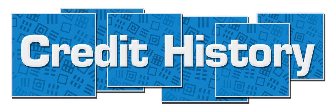 Credit History Blue Texture Blocks