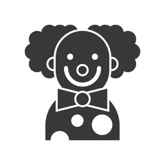 scary clown or joker, Halloween character icon