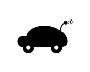 black Toy car playing icon vector logo icon