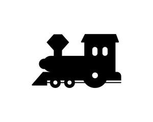 black Toy train playing icon vector logo icon