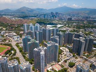 Aerial view of Hong Kong residential building